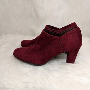 AEROSOLES Shoes - Aerosoles Wine Faux Suede Booties